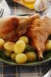 Tacchino allo spiedo e patate - Secondi di carne