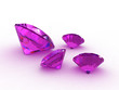 Set of four beautiful amethyst gemstones