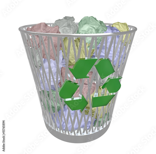 Recycle Bin - Colored Paper