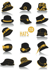 Hats silhouettes 2.0