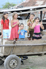 children in cart