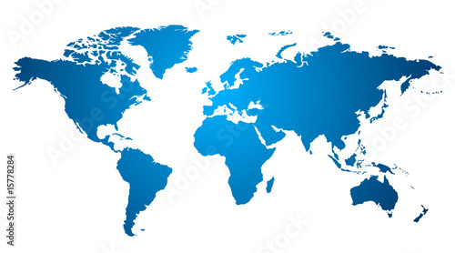 Foto op Plexiglas Wereldkaart World map