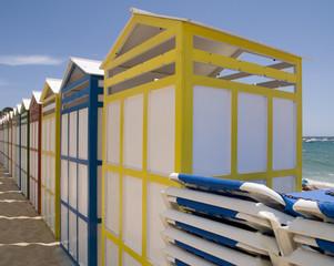 Caseta de playa en verano