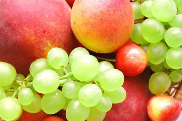 Background of fresh summer fruit.