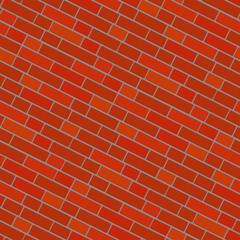 Seamlessly bricken wall pattern