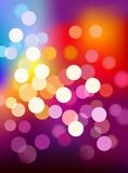 Multi color defocus light background poster