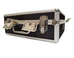 money stuffed case