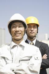 作業員とビジネスマン