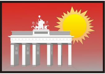 Zukunft und Geschichte - Brandenburger Tor