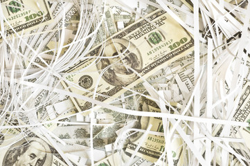 background with american dollars