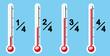 thermométre a 4 niveaux différent