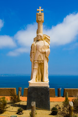 Statue of Spanish explorer in San Diego