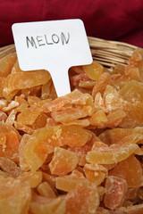 Fruits confits - Melons
