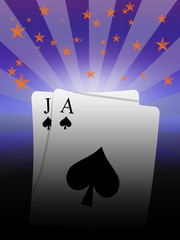 winning combination in the game of black jack