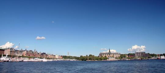 Blick auf Stockholm und das Vasamuseum