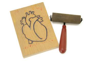Anatomical Heart Block Print & Brayer