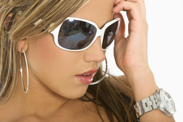 Beautiful woman with sunglasses