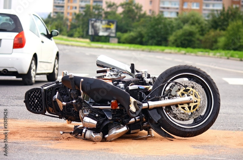 canvas print picture motorbike accident