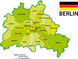 BERLIN - Karte bezirk - 2009