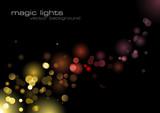 defocused lights background poster