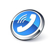 icône téléphone, communication