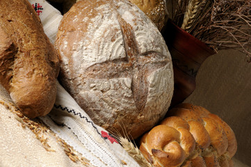 closeup with bread