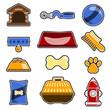dog object icon set