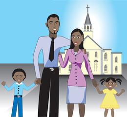Family at Church 1