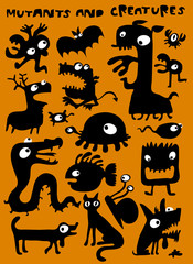 monsters, mutants and creatures