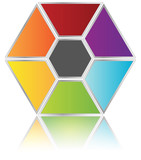Business Model - Hexagon Pieces poster