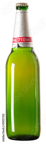 Beer bottle. Clipping path