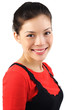 Smiling ethnic model
