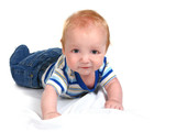 Infant Baby Boy Lying on His Tummy poster