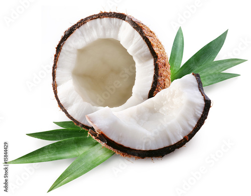 coconut on a white background © volff