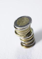 pile de pièces euros