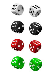 collection of dice vector