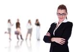 businesswoman leadership poster