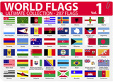 World Flags | Ultimate Collection | 287 flags | Volume 1 poster