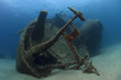 A wreck of a ship lying on the seabed - 15850870