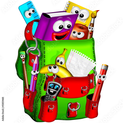 Zaino Scuola-School Backpack-Sac à Dos école-Cartoon