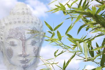buddha with bamboo