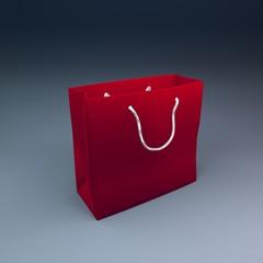 red 3d bag
