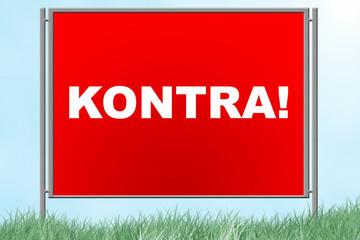"""Plakatwand """"KONTRA!"""""""