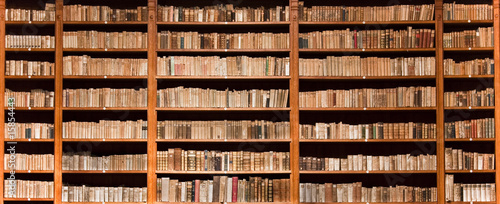 old books in a old library - 15854443