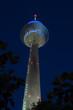 Fernmeldeturm in Düsseldorf in der Nacht