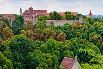 View of the city Rothenburg in Germany