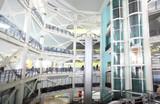 Interior of trade complex