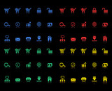 Set of e-commerce icons for internet site design poster
