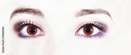 close up of eye makeup