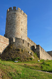 Medieval fortress Kalemegdan in Serbian capitol Belgrade poster